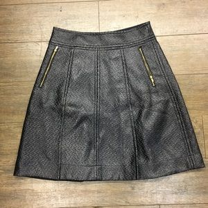 Banana Republic A line faux leather skirt 6